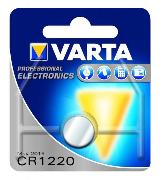 VARTA Knopfzellenbatterie Electronics CR1220 Lithium