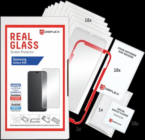 DISPLEX Service-Kit Real Glass 2D für Samsung Galaxy A40